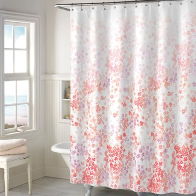 Buy Coral Fabric Shower Curtains from Bed Bath & Beyond