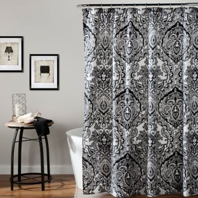 Aubree Shower Curtain In Black White