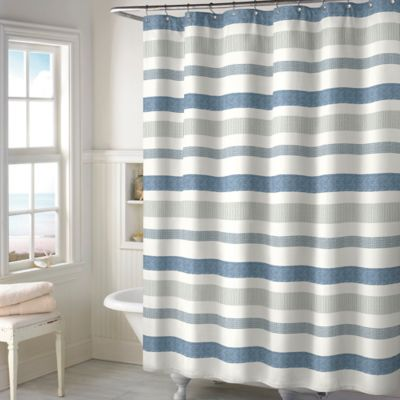 Beautiful Blue And Gray Shower Curtain Gallery - 3D house designs ...