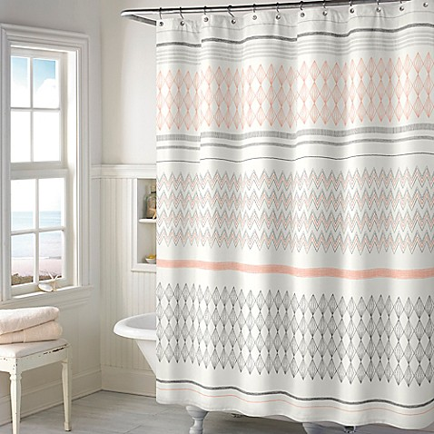 Norway Shower Curtain In Blush Bed Bath Amp Beyond
