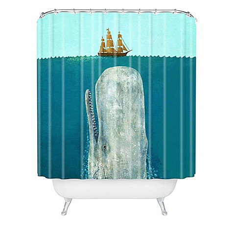 Deny Designs Terry Fan The Whale Shower Curtain Bed Bath
