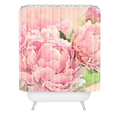 DENY Designs Lisa Argyropoulos Pink Peonies Shower Curtain In