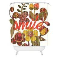 DENY Designs Valentina Ramos Smile Sunshine Shower Curtain