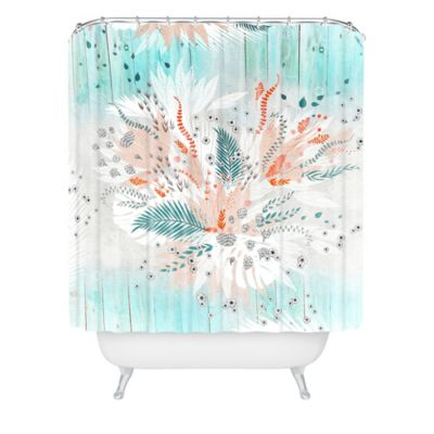 Turquoise And Coral Shower Curtain. DENY Designs Iveta Abolina Tropical Teal Shower Curtain Buy from Bed Bath  Beyond