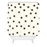 DENY Designs Garima Dhawan Vintage Dots Shower Curtain In Black