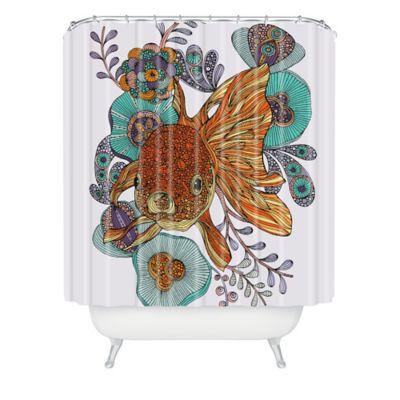 deny designs valentina ramos little fish shower curtain in orange
