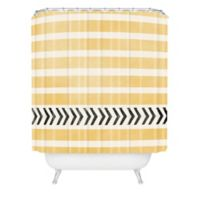 DENY Designs Allyson Johnson Stripes and Arrows Shower Curtain in Yellow