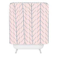DENY Designs Allyson Johnson Denim Dreamin' Shower Curtain in Pink