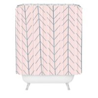 DENY Designs Allyson Johnson Denim Dreamin Shower Curtain In Pink