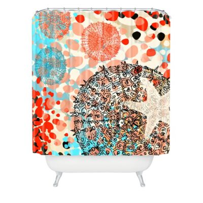 Turquoise And Coral Shower Curtain. DENY Designs Irena Orlov Exotic Sealife Shower Curtain in Blue Buy Coral Fabric Curtains from Bed Bath  Beyond