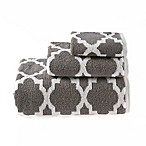 Riviera Jacquard Bath Towel in Grey
