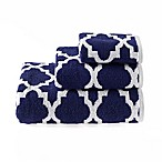 Riviera Jacquard Hand Towel in Navy