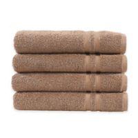 Linum Home Textiles Denzi Hand Towels in Latte (Set of 4)