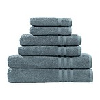 Linum Home Textiles Denzi 6-Piece Towel Set in Denzi Blue