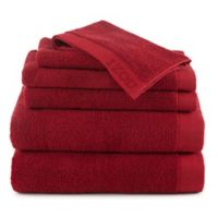 Izod® Classic Egyptian Cotton 6-Piece Towel Set in Red