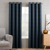 Sketch 95-Inch Grommet Top Window Curtain Panel in Marine
