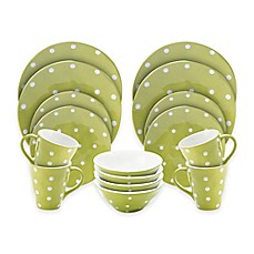 Maxwell u0026 Williams™ Sprinkle 16-Piece Dinnerware Set in Lime  sc 1 st  Bed Bath u0026 Beyond : maxwell williams sprinkle dinnerware - pezcame.com