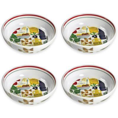 Boston International Antipasto Pasta Bowls (Set of 4)  sc 1 st  Bed Bath u0026 Beyond & Buy Ceramic Pasta Bowl Sets from Bed Bath u0026 Beyond