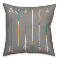 Arrows 18-Inch Square Throw Pillow in Grey