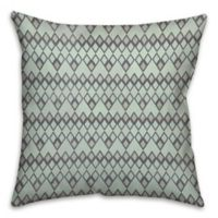 Tribal Mat 16-Inch Square Throw Pillow in Mint