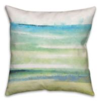 Cool Watercolor 18-Inch Square Throw Pillow in Blue