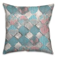 Cotton Candy 18-Inch Square Throw Pillow in Pink/Blue