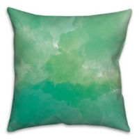 Succulent Watercolor Spots 18-Inch Square Throw Pillow