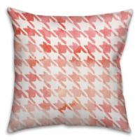 Watercolor Argyle 18-Inch Square Throw Pillow in Red
