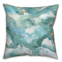 Watercolor Blues 18-Inch Square Throw Pillow in Blue