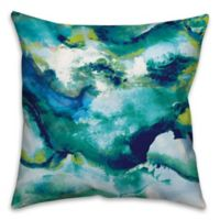 Watercolor Brights 18-Inch Square Throw Pillow