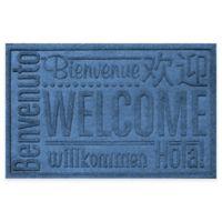 Weather Guard™ 23-Inch x 35-Inch Welcome Door Mat in Medium Blue