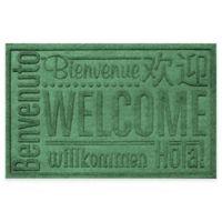 Weather Guard™ 23-Inch x 35-Inch Welcome Door Mat in Light Green