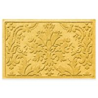 Weather Guard™ Damask 23-Inch x 35-Inch Door Mat in Yellow