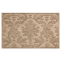 Weather Guard™ Damask 34-Inch x 52-Inch Door Mat in Khaki