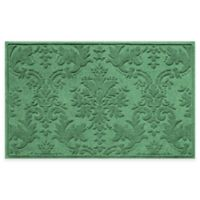 Weather Guard™ Damask 34-Inch x 52-Inch Door Mat in Light Green