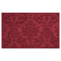 Weather Guard™ Damask 34-Inch x 52-Inch Door Mat in Red/Black