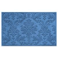 Weather Guard™ Damask 34-Inch x 52-Inch Door Mat in Medium Blue