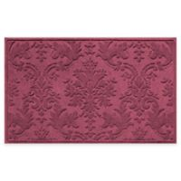 Weather Guard™ Damask 34-Inch x 52-Inch Door Mat in Bordeaux