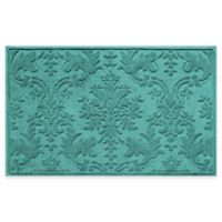 Weather Guard™ Damask 34-Inch x 52-Inch Door Mat in Aquamarine