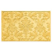 Weather Guard™ Damask 34-Inch x 52-Inch Door Mat in Yellow