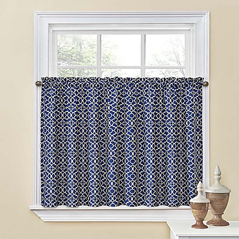 Waverly Lovely Lattice 36 Inch Window Curtain Tier Pair Bed Bath Beyond