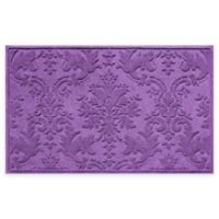 Weather Guard™ Damask 34-Inch x 52-Inch Door Mat in Purple