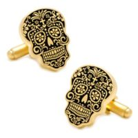 Gold-Plated Day of the Dead Cufflinks