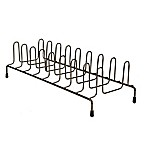 Home Basics® Vertical Plate Rack in Onyx