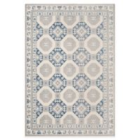 Safavieh Patina Tiles 5-Foot 1-Inch x 7-Foot 6-Inch Area Rug in Blue/Ivory