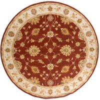 Artistic Weavers Middleton Hattie 3-Foot 6-Inch Round Area Rug in Maroon/Ivory