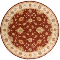 Artistic Weavers Middleton Hattie 6-Foot Round Area Rug in Maroon/Ivory