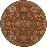 Artistic Weavers Middleton Mallie 3-Foot 6-Inch Round Area Rug in Rust