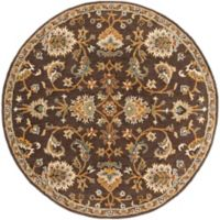Artistic Weavers Middleton Mallie 3-Foot 6-Inch Round Area Rug in Brown