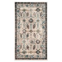 Safavieh Serenity Collection Iris 2-Foot x 3-Foot Accent Rug in Cream/Turquoise